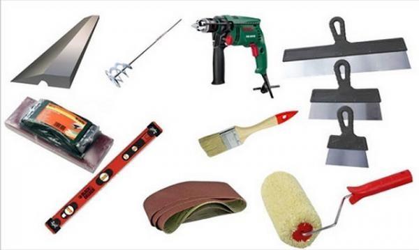 Набор инструментов, который понадобиться вам для шпаклевания стен