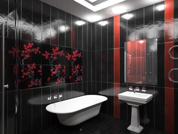 Оформление ванной комнаты пластиковыми панелями