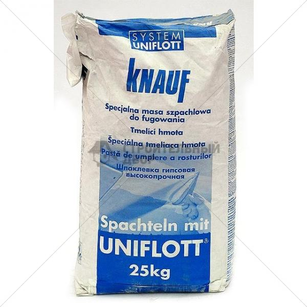 Uniflot Knauf - влагостойкая шпатлевка