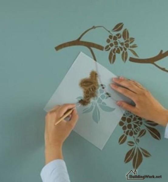 Нанесение рисунка на стену