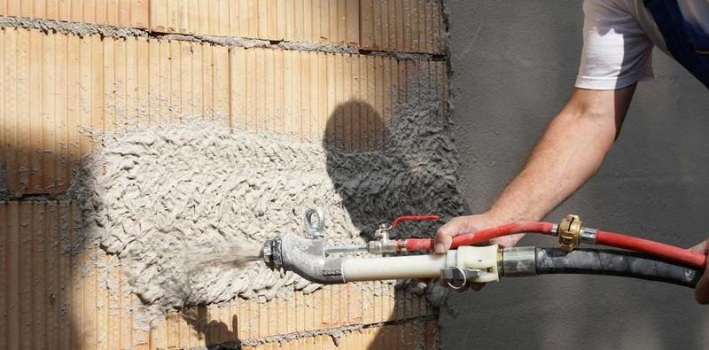 Использование механизированной штукатурки в строительстве