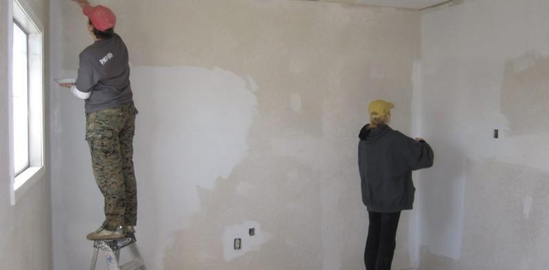 Отделка стен под покраску