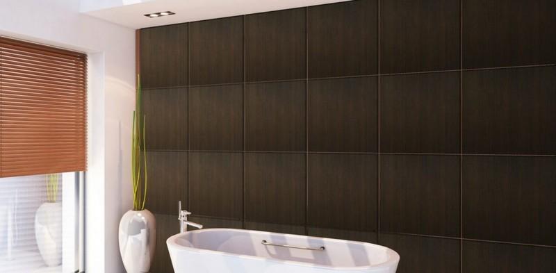 Влагостойкие панели для ванной ДВП