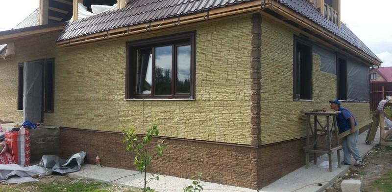 Материал для отделки фасада бани
