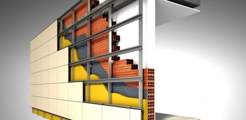 монтаж фасадного керамогранита
