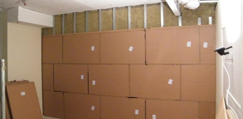 монтаж звукоизоляционных панелей для стен
