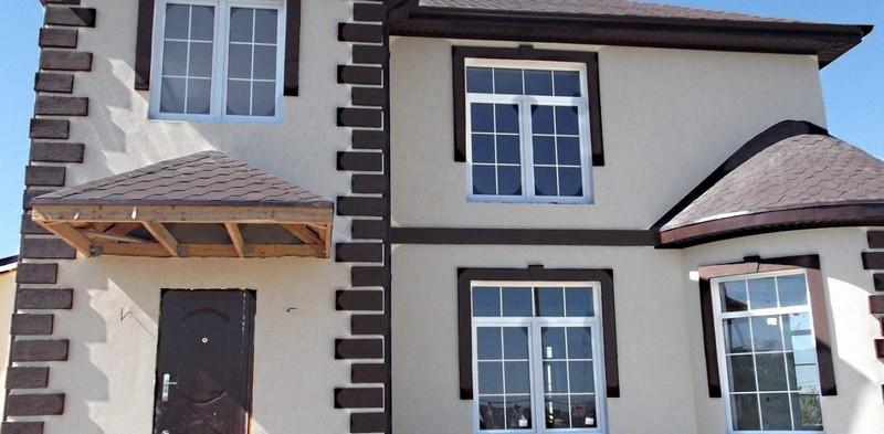 Отделка фасадов домов и их фотографии