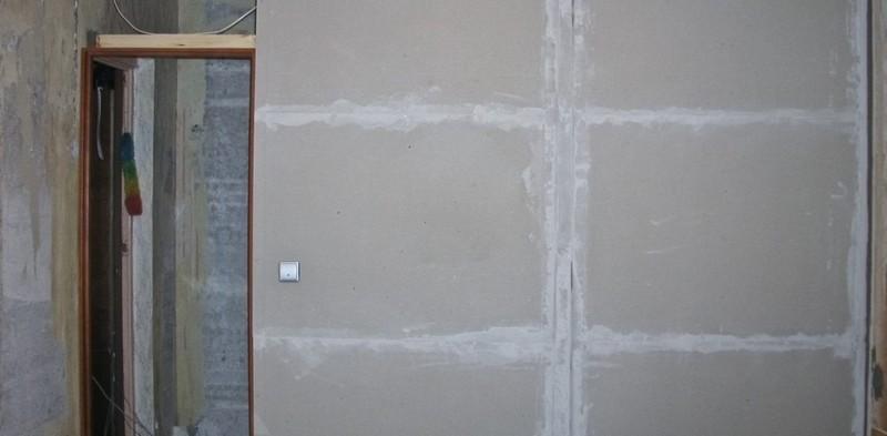 обшить стены дома гипсокартоном