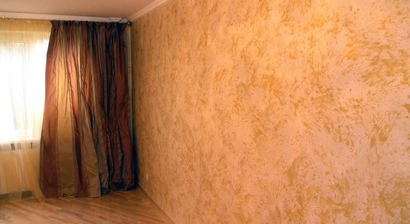 отделка декоративной краской для стен