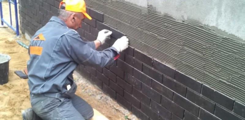 отделка фасадной керамической плиткой