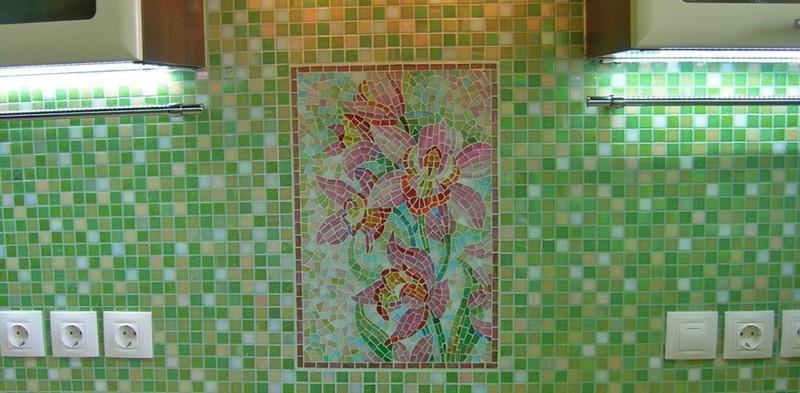 плитка-мозаика для фартука на кухню