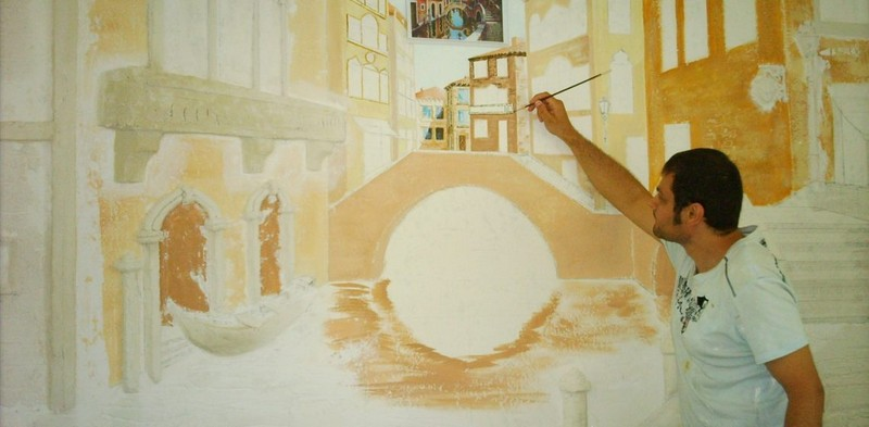 техники росписи стен