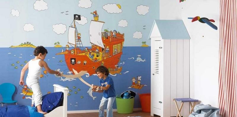 выбрать обои для стен в детскую